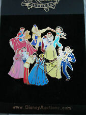 Disney Auctions Princesses dancing Rapunzel Belle Aurora Ariel Jumbo pin LE 100