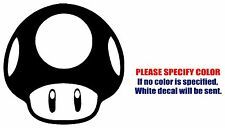 Toad Mushroom Mario Funny Vinyl Decal Car Sticker Window bumper Laptop tablet 9""