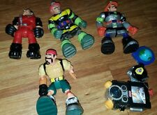 LOT OF RESCUE HEROES HERO FIGURES AND ACCESSORIES