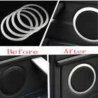 4Pcs Car Interior Sound Speaker Trim Ring Cover For 3 Series F30 F34 328 Silver