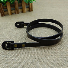 Genuine Leather Camera Shoulder Neck Strap for Leica SLR DSLR Mirrorless Black