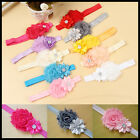 Baby Children Flower Pearl Infant Toddler Girl Headband Clips Hairband Hair Band