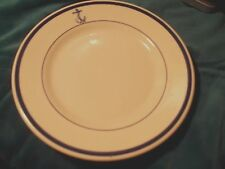 "Buffalo China USN US Navy WWII Era Officers Anchor 7"" Bread Plate"