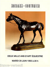 Catalogue de vente 2000 ans d'Art Equestre Cheval Tableau Sculpture...
