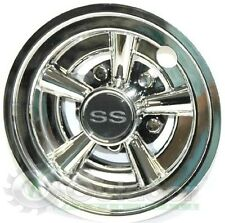 "GOLF CART SS WHEEL COVERS HUB CAPS OPD BRAND FITS  8"" WHEELS (Set of 4)"