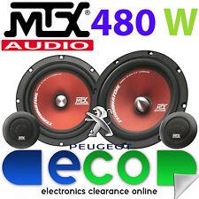 """Peugeot 307 2001-2008 MTX 6.5"""" 480 Watts Component Kit Front Door Car Speakers"""