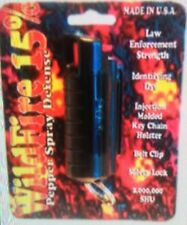 ULTRA HOTTEST! Wildfire 1/2 oz 18% OC-18 POLICE Pepper Spray Keychain BLACK NEW