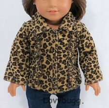 """Ruffle Leopard Jacket Coat for 18"""" American Girl Doll  Largest Selection Online!"""