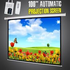 """4:3 Electric Motorized Projector / Projection Screen with Remote Control: 100"""""""