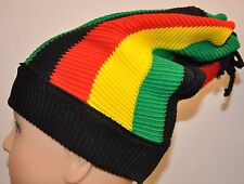 Jamaican Clothes accessories style fashion Rasta Raggae knitted hat beanie cap