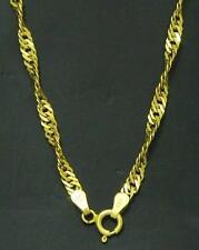 Damen Halskette Gelbgold Kette gedreht 585 Gold 14 Kt. Neu 50 cm lang