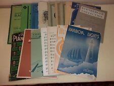 Lot of Classical Piano Flute Violin Sheet Music & Books Mozart Chopin Bach More