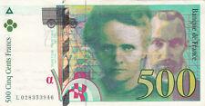 BILLET BANQUE 500 Frs pierre et marie CURIE 1994 TTB 946