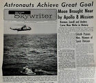 1969 Vintage ROCKWELL SKYWRITER Space Division In-House Newsletter APOLLO 8