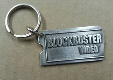 NEW BLOCKBUSTER Video Solid Pewter Key Chain Block Buster Movie Rental