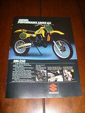 1982 SUZUKI RM-250 RM250 ***ORIGINAL AD***