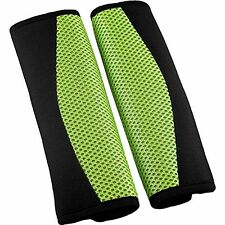 GREEN Car Seat Belt Comfort Pads/Covers/Cushions For All Cars - Universal