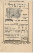 Fabram Loose covers for the Ford 8 HP Advertising post card Ramsdens of Halifax