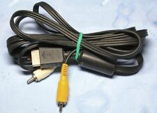 Original Sony PlayStation 2 TV Fernseher Kabel Cinch-Kabel + Scart Adapter.