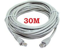 30M CAT5e RJ45 ETHERNET LAN NETWORK PATCH LEAD CABLE