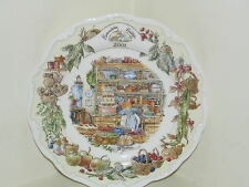 "ROYAL DOULTON BRAMBLY HEDGE 8"" WALL PLATE 2001 YEAR KITCHEN SCENE 1ST QUALITY"