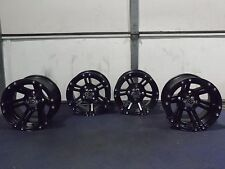 "12"" ITP SS212 BLACK ATV WHEELS COMPLETE SET 4 LIFETIME WARRANTY SRA1CA"