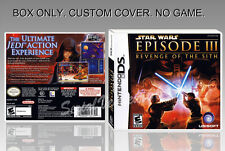 NINTENDO DS : STAR WARS EPISODE 3. ENGLISH. COVER + ORIGINAL BOX. (NO GAME).