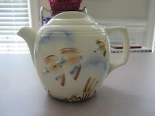 Porcelier Vitreous hand decorated china ducks in flight 6 cup teapot EC!