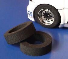 2 Stück Slotcar Moosgummi Reifen 16,5x26x8mm vorne für FLY Lkw Truck  2010617268