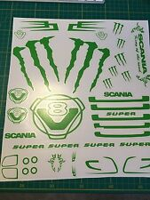 Tamiya Scania 1/14 Truck Monster Decals