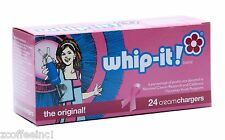50 Whipped Cream Chargers Nitrous Oxide N2O WHIP-IT LIMITED EDITION PINK CANCER