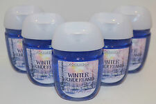 LOT OF 5 BATH BODY WORKS WINTER WONDERLAND POCKETBAC ANTI BAC HAND GEL SANITIZER