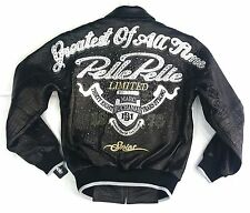 2017 PELLE PELLE GREATEST OF ALL TIME GOAT LEATHER JACKET BLACK SIZE 40 /SM-MED