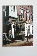 VINTAGE DUFEX FOIL ART PRINT Nell Gwynns house  Made in ENGLAND NO FRAME