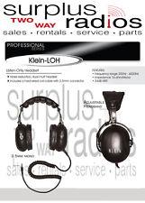 RACING DUAL EAR HEADSET SCANNER 3.5MM MOTOROLA ICOM KENWOOD RADIOS CP200 CP185