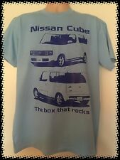 BLUE Nissan Cube The box that rocks Tee shirt T-Shirt Z11 Gen2 Rider JDM Import