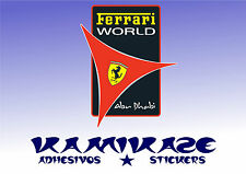 ADHESIVO PEGATINA STICKER AUTOCOLLANT ADESIVI AUFKLEBER DECAL FERRARI WORLD