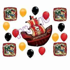 Jake & the Neverland / Pirate Ship 'Happy Birthday' Balloons Set  17 Pieces