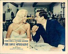THE LOVE SPECIALIST ORIGINAL LOBBY CARD DIANA DORS VITTORIO GASSMAN 1958
