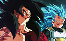 Poster A3 Dragon Ball Goku Super Saiyan 4 Vegeta Super Saiyan God Blue