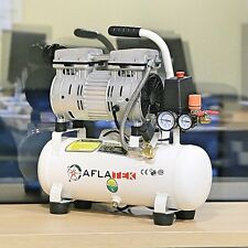 New Low Noise Oilless Silent 10L Air Compressor 600W 230V 8 Bar 75L/min 66dB
