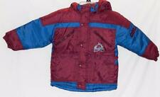 NHL COLORADO AVALANCHE Toddler Boys Size 4 Burgundy Blue Hooded Winter Jacket