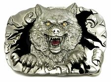 Mad Wolf Belt Buckle Animal Gothic Horror Themed Authentic C & J Buckles Product