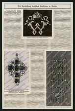 Pietre preziose hofjuwelen corona austro Guglielmo II. Gisela gioielli Berlin 1914