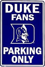 Duke Blue Devils NCAA Large Metal Parking Sign