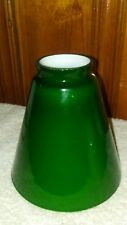 "Vintage Green Cased Glass Emeralite style Cone Lamp Light Shade 2-1/4"" Fitter"