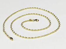 """10kt SOLID Gold Diamond Cut ROPE Pendant Chain/Necklace 20"""" 2mm 5 grams"""