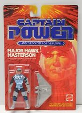 "Captain Power Mattel 1987 MAJOR HAWK MASTERSON Action Figure NIP 3.75"" scale"