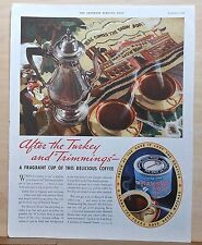 1934 magazine ad for Maxwell House Coffee - After Turkey, Maxwell House Showboat