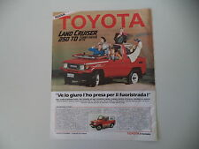 advertising Pubblicità 1986 TOYOTA LAND CRUISER 250 TD BJ 73